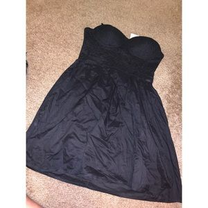 NTW guess lace strapless dress